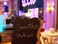 Smoothie station sign