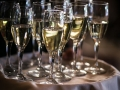 Butlered champagne