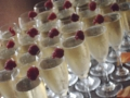 Raspberry-adorned champagne