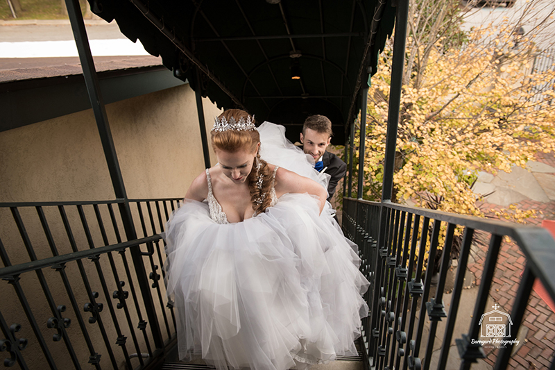 Courtyard Stairs to Bridal Suite