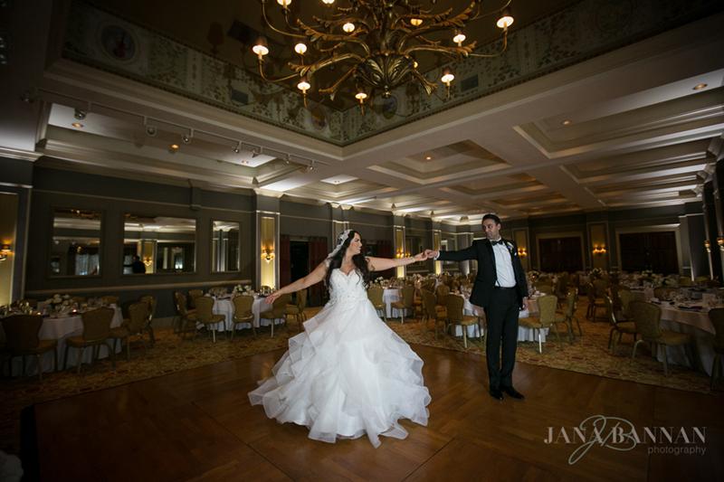 Bride & Groom in the Ballroom