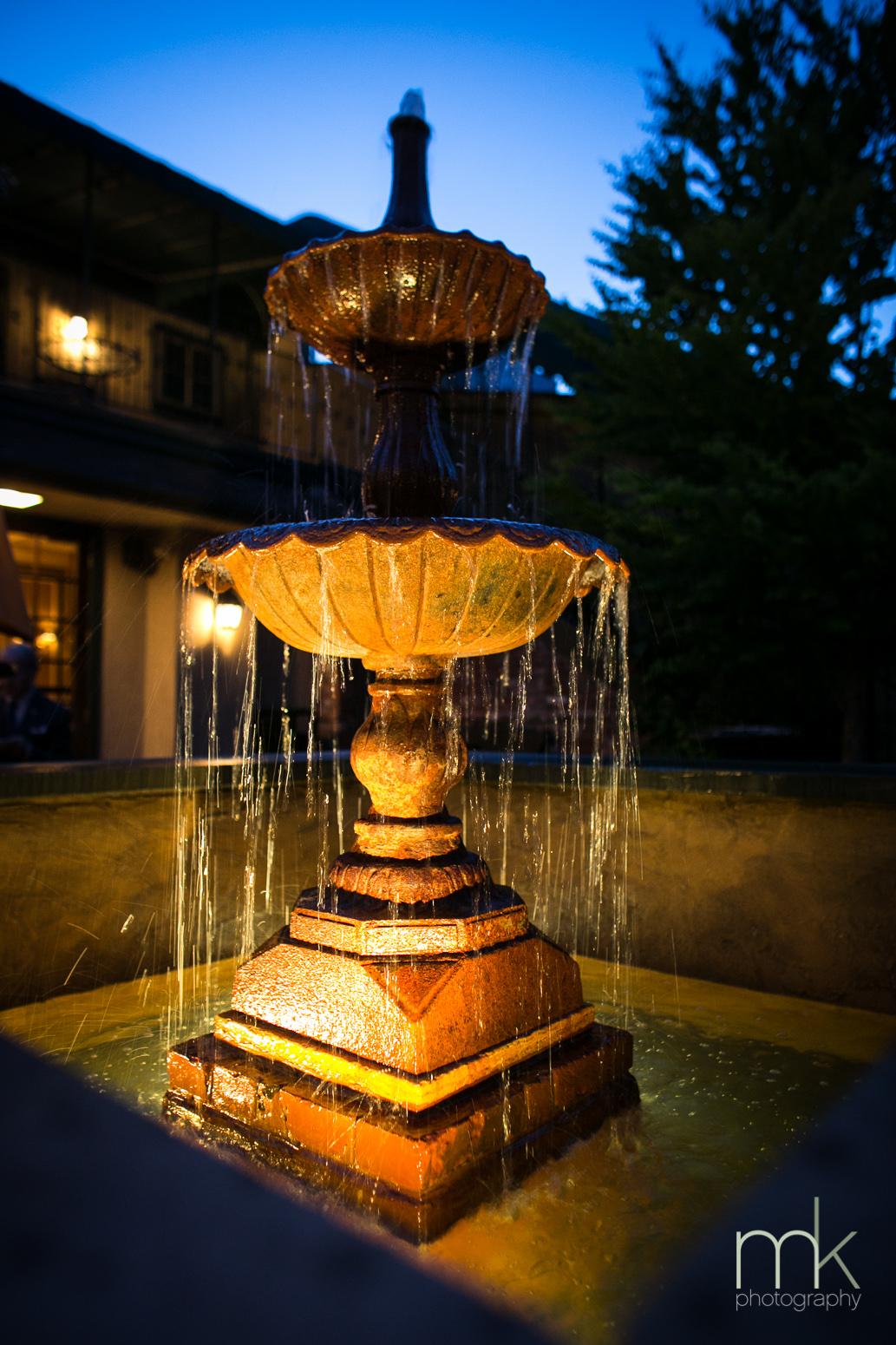 The Courtyard Fountain -- Evening