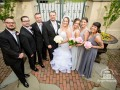 Courtyard Wedding Party Photo