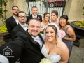 Courtyard Wedding Party Selfie!
