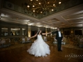 Bride & Groom in the Ballroom