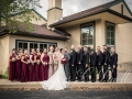 Bridal Party by the Courtyard