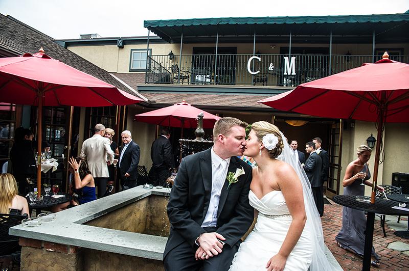 courtyard kiss