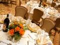 Wedding Setup with Orange Flowers