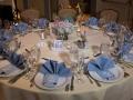 Table Setting Blue Napkins