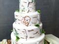 Birch Tree & Bear Cake